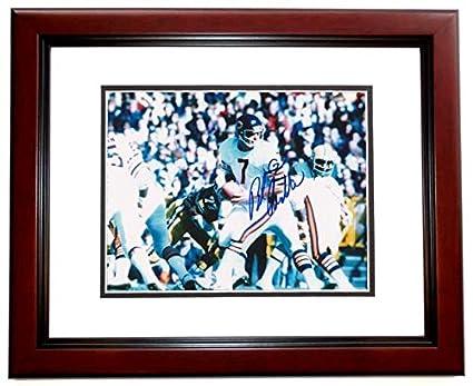 38ab8e288 Bob Avellini Signed - Autographed Chicago Bears 8x10 inch Photo MAHOGANY CUSTOM  FRAME