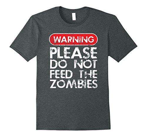 Family Halloween Themed Costume Ideas (Mens Please Do Not Feed The Zombies Halloween Costume Tshirt XL Dark Heather)