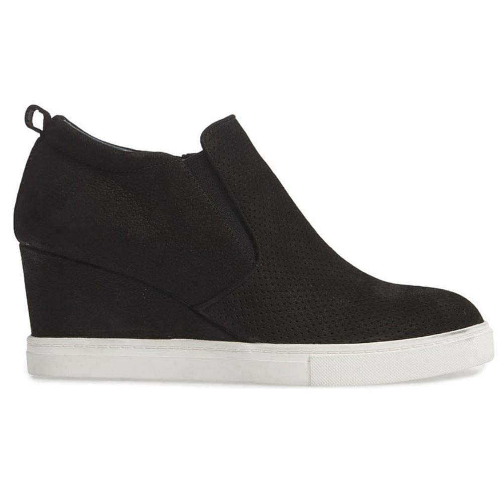 888c9e5afe8d ... Womens Wedge Platform Sneakers Ankle Booties Heel Zipper Faux Leather  Comfort Casual Shoes ...