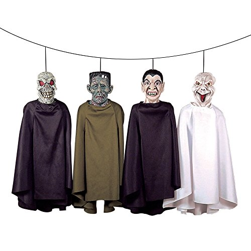 Scariest Halloween Decoration (Theefun Set of Four Hanging Ghost Halloween Decorations With Different Designs)