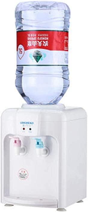 Hot/Cold Top Loading Countertop Water Cooler Dispenser, 220V Mini Portable Electric Hot And Cold Drink Machine Desktop Water Dispenser, With Cute Shape, Small Space And Easy To Carry