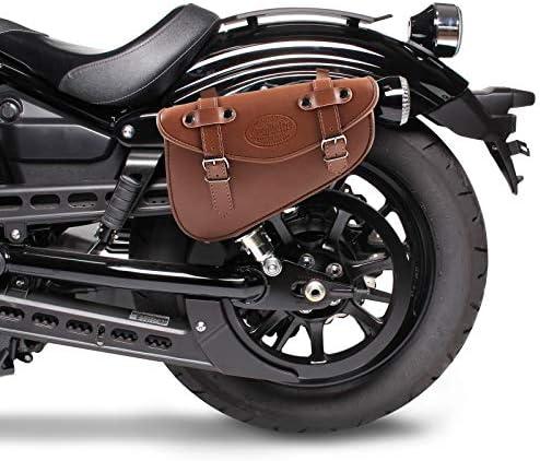 Solo Satteltasche Für Harley Davidson Sportster 1200 Roadster Xl 1200 R Craftride Arizona I 3l Braun Auto