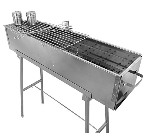 Party griller stainless steel charcoal grill w