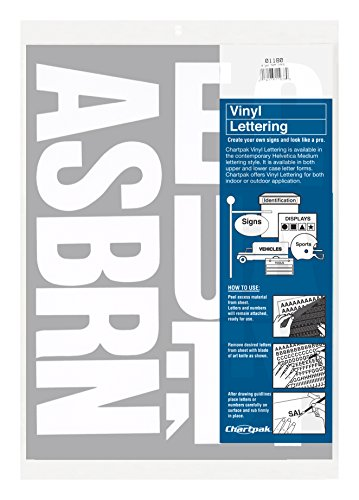 Chartpak Self-Adhesive Vinyl Capital Letters, 4 Inches High,