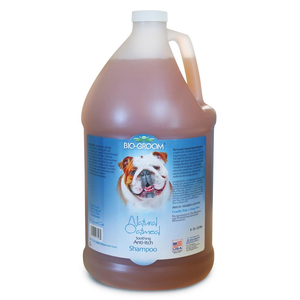 Bio-Groom Natural Oatmeal Anti-Itch Dog and Cat Shampoo, 1-Gallon by Bio-groom (Image #1)