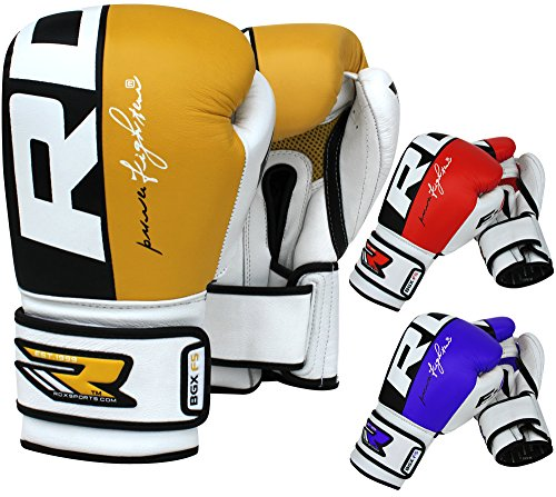 RDX Cow Hide Leather Boxing Gloves Sparring Training Glove Punching Bag Mitts Muay Thai F4