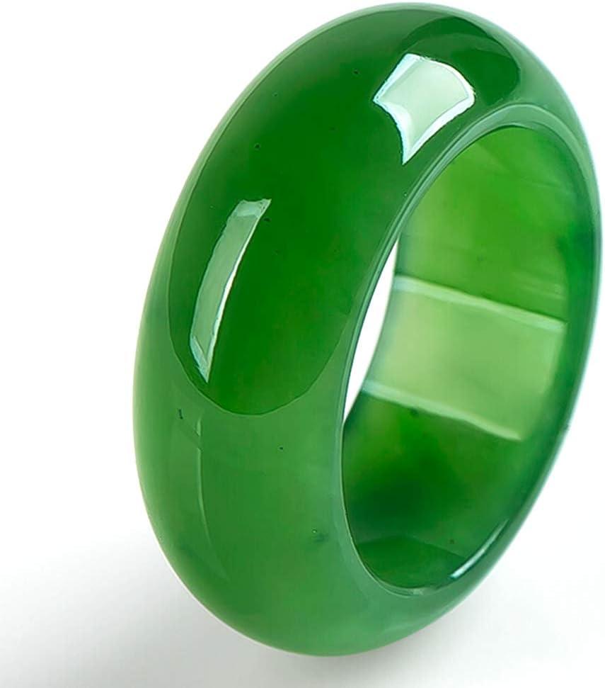 N/N Anillo Jade Verde Hetian Natural Anillos Piedras Preciosas Esmeralda