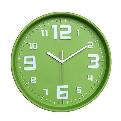 XJYA Relojes de Pared Silencioso Grandes Originales Cocina Decorativas 12 Pulgadas Diseño Moderno Reloj de Pared