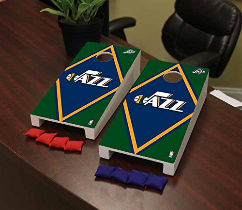 Victory Tailgate Utah Jazz NBA Basketball Desktop Cornhole Game Set Diamond Version by Victory Tailgate