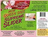 Queen Size Supreme Slider Free Motion Machine Quilting Mat: Improved Trimable Free-motion Slider with Pink Tacky Back and Bigger Size (11.5 Inch X 17 Inch)