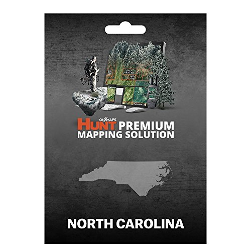 onXmaps HUNT North Carolina: Digital Hunting Map For Garmin GPS + Premium Membership For Smartphone and Computer - Color Coded Land Ownership - 24k Topo - Hunting Specific Data (County Nc North Carolina Map)