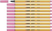 Rotulador punta fina STABILO point 88 - Caja con 10 unidades - Color rosa claro