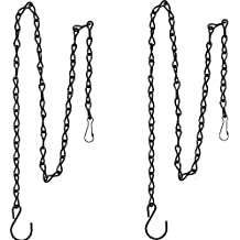 eBoot 2 Pack 35 Inch Hanging Chain for Bird Feeders, Planters, Lanterns and Ornaments (Black)