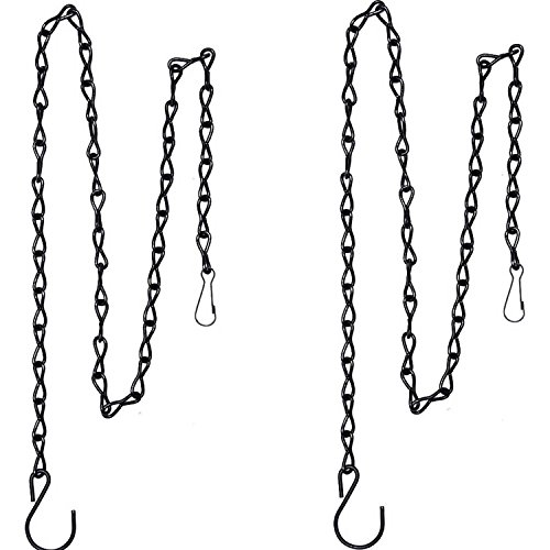 - 2 Pack 35 Inch Hanging Chain for Bird Feeders, Planters, Lanterns and Ornaments (Black)