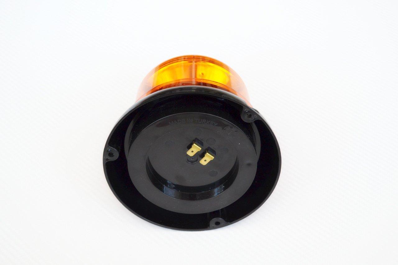 1 luz de emergencia LED con efecto giratorio de advertencia luz naranja 12V-24V para cami/ón volquete tractor y veh/ículo de emergencia