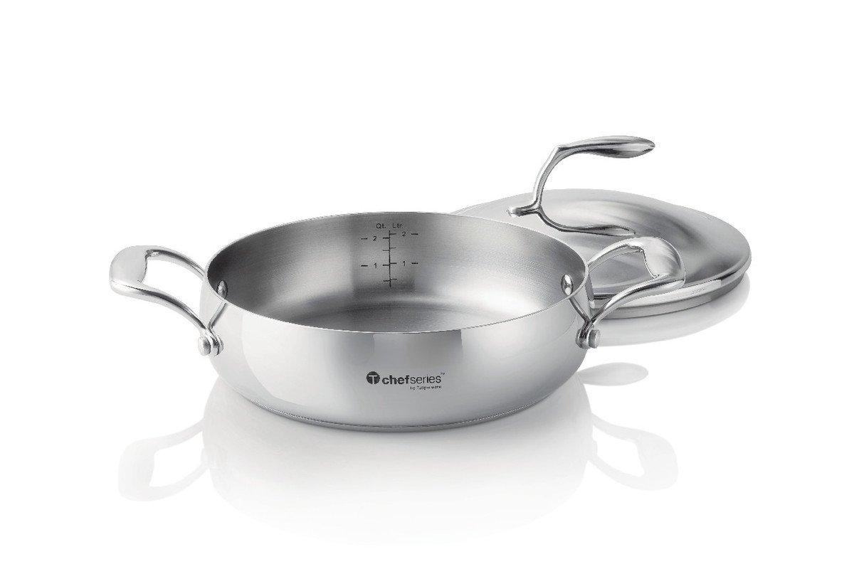 Tupperware Chef Series Sauteuse 28qt Home Kitchen Tchef Fry Pan