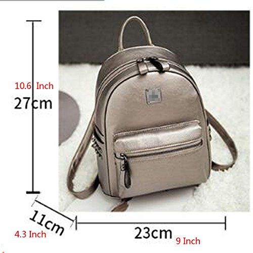 Leather Small Pu Double Women Handbag Personality Backpack Leisure Mini Fashion Blue Bag Shoulder xxHan