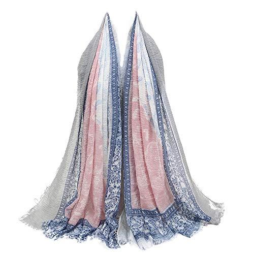 Clearance Multipurpose Shawl Scarf DEATU Women Fashion Retro Point Printed Scarf Ladies Female Scarves Sales Promotion (b-B,95X180CM)