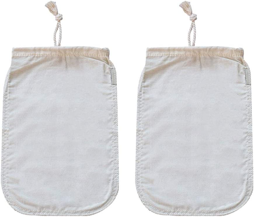 Nut Milk Bag Reusable- 2PCS 12