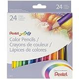 Pentel Arts Color Pencils, Assorted Colors (24 Pack) (CB8-24)