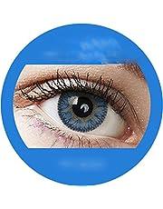Kolorowe soczewki kontaktowe z pudełkiem brązowym, niebieskim, zielonym, szarym, turkusowym, miękkim, bez mocności, 2 sztuki w opakowaniu, z pudełkiem do przechowywania, przyjemne w noszeniu, idealne do jasnych i ciemnych oczu
