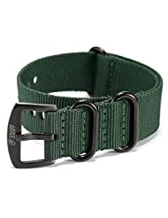 Shark Army Green Nylon Sport Military Ourdoor Watchband Watch Strap Band WTL068