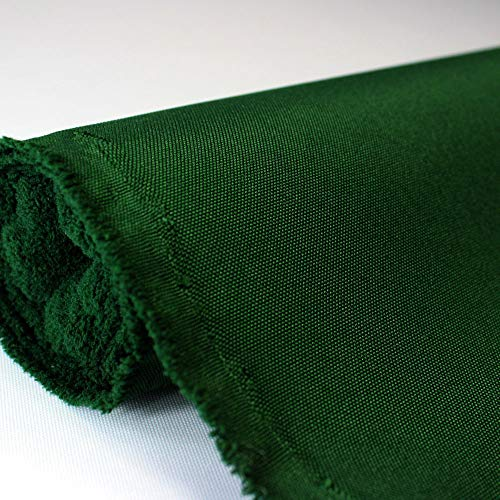 Waterproof Canvas Fabric Outdoor 600 Denier Indoor/Outdoor Fabric by the yard PU Backing W/R, UV, 2times GOOD PU Color : HUNTER GREEN 10 yards
