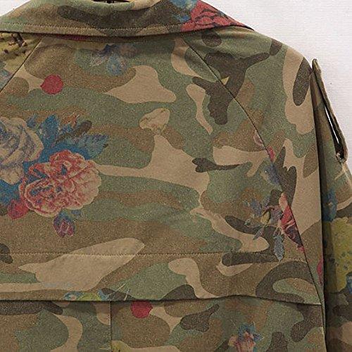 Jacket Cardigan Camouflage Winter Batwing Sleeve Size Sale Womens Coats Loose Top Outwear Long Turn Camouflage Plus Ladies Collar Clearance Down Sleeve DEELIN U0zgxnTz