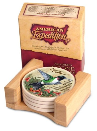 (American Expeditions Hummingbird Stone Coaster (4))