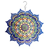 Uddiee 3D Wind Spinner, Hanging Metal Mandala Wind Spinners Outdoor Garden Decoration Yard Décor Ornaments