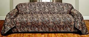 Safari Animal Leopard Skin Furniture Throw Cover, Sofa Size