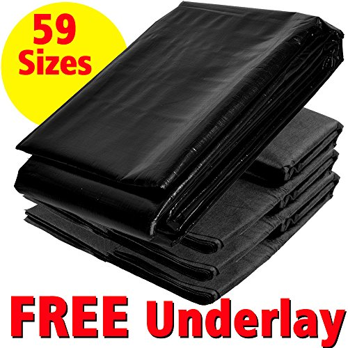 Pond Liner 2.5m x 2.5m (8' 2' x 8' 2') 40yr Guarantee with Free Underlay