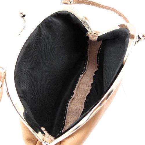 Bolso de cuero bolsa de judas 'Frandi' pimienta.