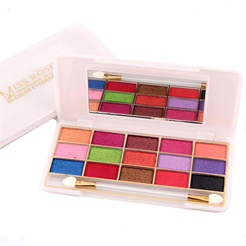 15 Color Pearl Eye Shadow Mineral Earth Color Lasting Waterproof Makeup , pearl 7001-068i-2