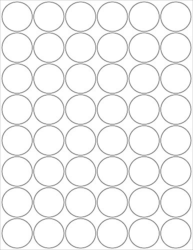 SHEETS ROUND STICKERS INKJET PRINTERS