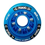 MOTA Roll Toxic Hybrid Roller Derby Skate Wheels - Available in 5 Two Sizes 62x41mm & 59x38mm - Great for Indoor surfaces - 93A Hardness - Blue 59mm 8pk