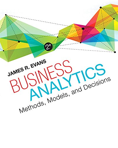 Evans: Business Analytics_2 (2nd Edition)