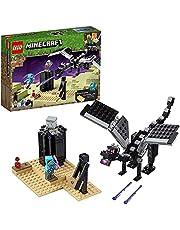 LEGO 21151 Minecraft The End Gevecht, Verzamelspeelgoed met de Enderdraak en Enderman, Speelgoed voor Kinderen vanaf 7 Jaar