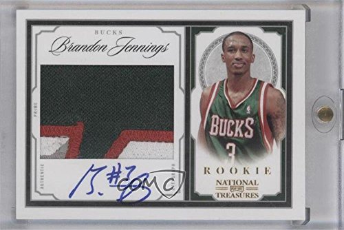 Brandon Jennings #13/25 (Basketball Card) 2009-10 Playoff National Treasures - [Base] - Century Gold #209