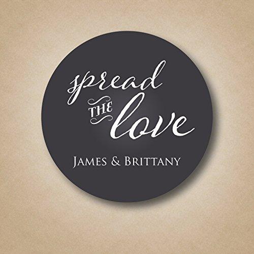 Spread the Love Chalkboard Wedding Favor Label
