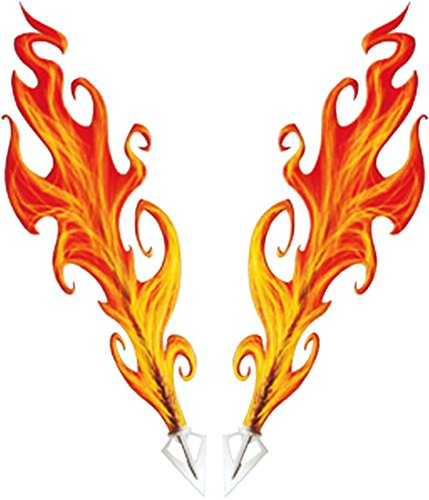 Car-Skin-Tattoo Flames, 115 x 100 mm ~~~ (Flame Tattoo)