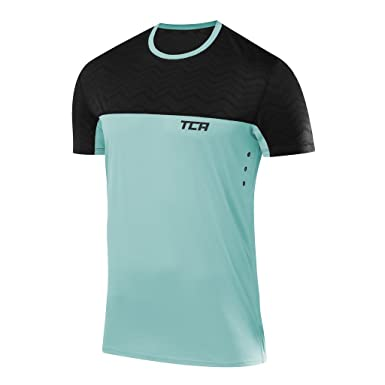 Orange Tca Hazard Mens Short Sleeve Training Top Men's Clothing