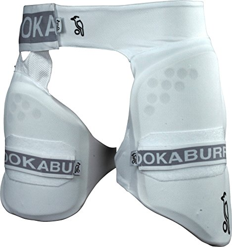 KookaBurra 500 Pro Guard for Inner and Upper Thigh Cricket Protective Gear (White, - Thigh Guard