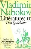Litteratures iii. don quichotte.