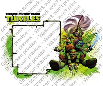 1/4 ~ Teenage Mutant Ninja Turtles Photo Frame Birthday ~ Edible Image Cake/Cupcake Topper!!!