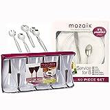 Mozaik 54-Piece Elegant Meal Party Premium Plastic Set - Service For 8