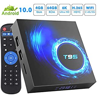 Android 10.0 TV Box 4GB RAM 64GB ROM TV Box Android H616 Quad-Core 64bit Support 2.4GHz WiFi 6K/4K Ultra HD/ 3D/ H.265 USB 3.0 Smart TV Box