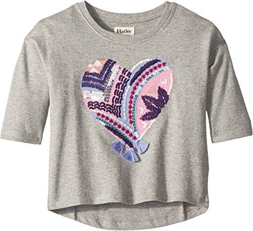 Hatley Kids Baby Girl's Crafty Heart Pullover (Toddler/Little Kids/Big Kids) Grey 2T (Toddler) ()
