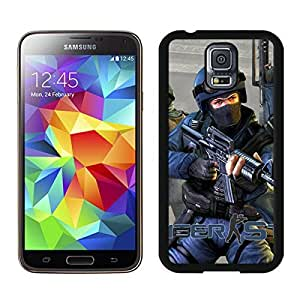 counter strike cs ct special forces gun Black Samsung Galaxy S5 Screen Cover Case Newest and Fashion Design
