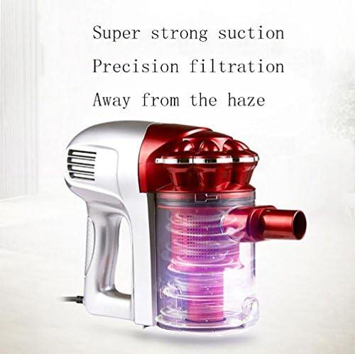 QMMCK À main, pas de sac, aspirateur, haute puissance, ultra-silencieux, petit collecteur de poussière (rouge)